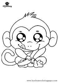printable coloring pages monkeys free printable baby record book pages kids coloring baby monkey