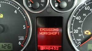 vw audi emissions workshop error code and check engine light