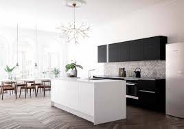 Contemporary Island Lights by Kitchen Style Chevron Light Hardwood Floor Black Matte Cabinets