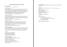 Artist Resume Objective Resume Sample Computer Programming Student Http Resumecompanion