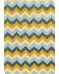 spectacular deal on trio collection chevron area rug blue