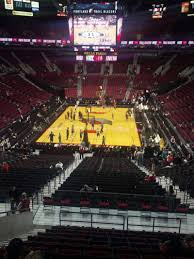 moda center section 208 home of portland trail blazers portland
