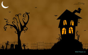 halloween mansion animated wallpaper