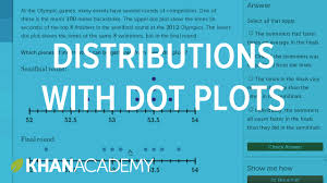 comparing distributions with dot plots example problem 7th