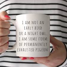 sale funny mugs i am not an early bird or a night owl mom
