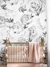 peony flower mural wall art wallpaper pink peel and stick mural wall art wallpaper peony flower wall art wallpaper