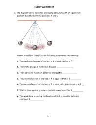 energy worksheet with answers by kunletosin246 teaching