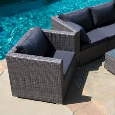 Outdoor Patio Sectional Furniture Sets - 6pc outdoor patio patio sectional furniture pe wicker rattan sofa