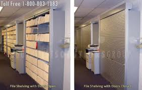 Secure Filing Cabinet Rolling Tambour Shelving Doors Locking Roll Up Security Door