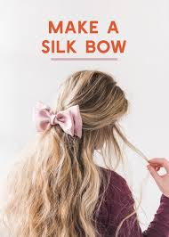 hair bow diy silk hair bow the house that lars built