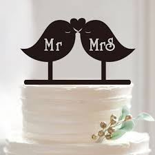mrs and mrs cake topper online shop birds mr mrs wedding cake topper acrylic