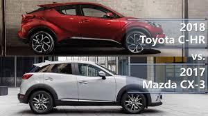 mazda cx 2018 toyota c hr vs 2017 mazda cx 3 technical comparison youtube