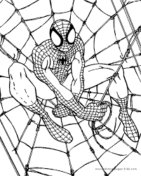 Spiderman Coloring Page Spiderman In A Web Web Coloring Pages