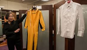 bruce yellow jumpsuit bruce s yellow jumpsuit up for auction inquirer