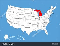 Map States Michigan In Map Of Usa My Blog