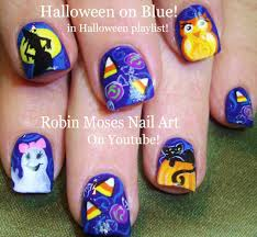 halloween nails cute candy corn nail art u0026 black cat nail design