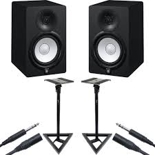 home theater yamaha yamaha hs7 monitors with gator stands studio bundle pair