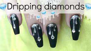 somethings about nail art rhinestone dripping rhinestone nail design kylie jenner inspired nailart
