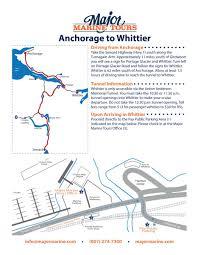 Seward Alaska Map by Major Marine Tours U2013 Whittier U2013 Great Alaskan Holidays Rv Rental