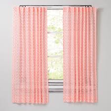 flora essence neon pink curtains the land of nod