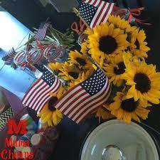 Sunflower Centerpiece Patriotic Sunflower Centerpiece Simple Beautiful Frugal Diy