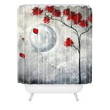 madart inc far side of the moon shower curtain deny designs