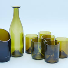 set bicchieri set blues green 6 glasses bo 1 carafes do 1 vases