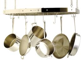 Hanging Bakers Rack Amazon Com All Clad 773 Magnatrack Hanging Pot Rack With 12 Hooks