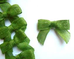 green gift bow green bows etsy