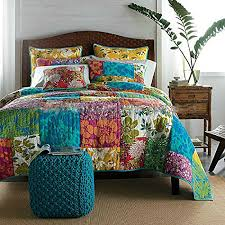 up for sale is a vibrant colourful king queen size patchwork