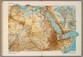 Physical Map Of North Africa by Northeast Africa David Rumsey Historical Map Collection