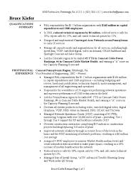 sample of summary of qualifications vp of engineering resume sample comcast voice over ip
