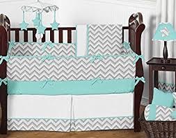 Aqua And Grey Crib Bedding Furniture 141731914610 500x500 Decorative Turquoise Crib Bedding