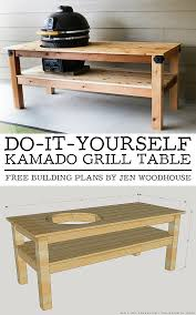 sit around grill table diy kamado grill table