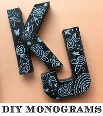 diy vintage monogram letters craft a watercolor life