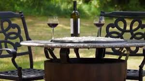 Wine Barrel Fire Pit Table by Hearth Distribution Wine Barrel Fire Pit Youtube