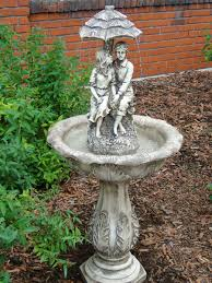 solar fountains with lights lovers umbrella solar on demand fountain with led light solar