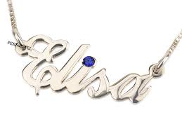 Sterling Silver Name Necklaces Personalized Name Necklace Fashion Jewelry Persjewel