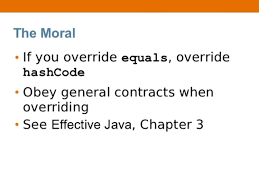 Hash Map Overriding Equals And Hashcode Method In Java And Hibernate