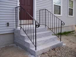 Steel Handrails For Steps Stairs Interesting Metal Handrails For Outside Steps Lowe U0027s