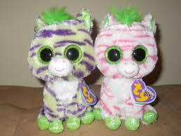 ty beanie boos sapphire wild zebras justice store