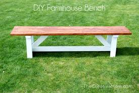 Build A Picnic Table Cost by How To Build A Farmhouse Bench For Under 20 The Creative Mom
