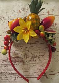 fruit headband tropical fruits headband miranda style by olgadesigns