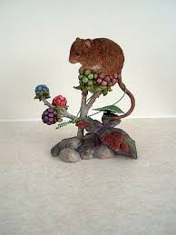 wood mice ornaments mouse figurine wood mice figurines