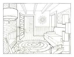 draw a room sketch drawing room perspective jennjohnson livingrmline pencil