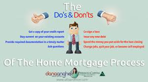 rules of the game mortgage do u0027s and don u0027ts