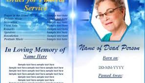 Free Funeral Programs Obituary Templates Word Excel Formats
