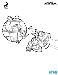 angry birds coloring pages pigs space blackbird bir free