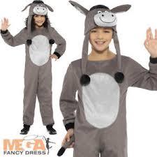 deluxe cosy donkey kids fancy dress christmas nativity animal boys