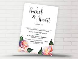 Wedding Invitations Galway Rachel Floral Invite Now And Forever